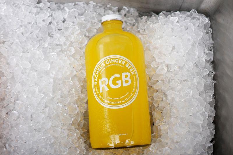 Moscow Mule Cooler Ice Pop Sodapop Soda Juice Gingerbeer Yellow Bottle No People Indoors  Close-up Orange Juice  Day