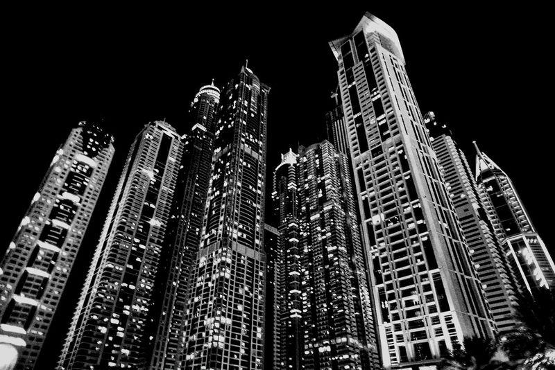 dubai skyscrapology Blackandwhite Urban Landscape Cityscapes Nightshot