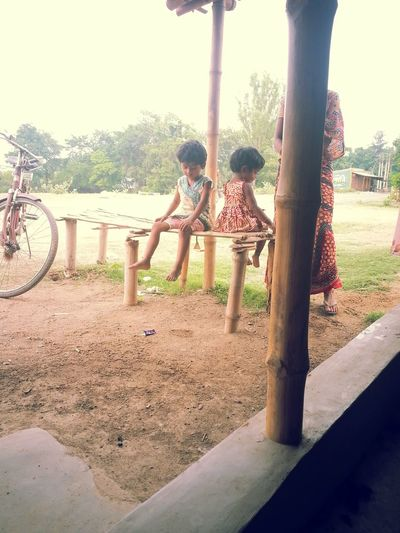 Capturing Movement West Bengal Murshidabad Village Life Beautiful Girls  Mum Behind The Bamboo Lost In Thoughts ! What A Life ?