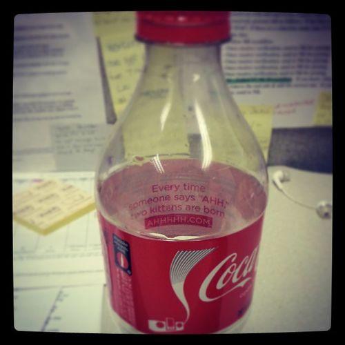 Messageinabottle Kittens Ahhhhh Cokebottle coke