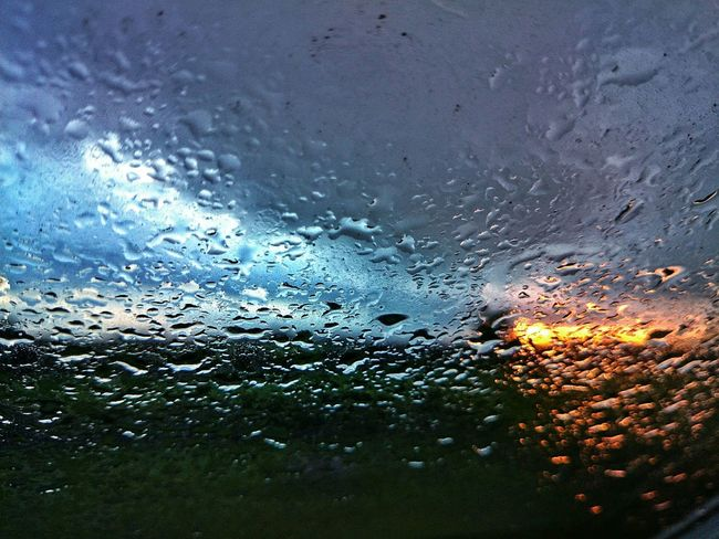 Re-upload with Editing Water Droplets The View From My Window Clouds And Sky It's Raining