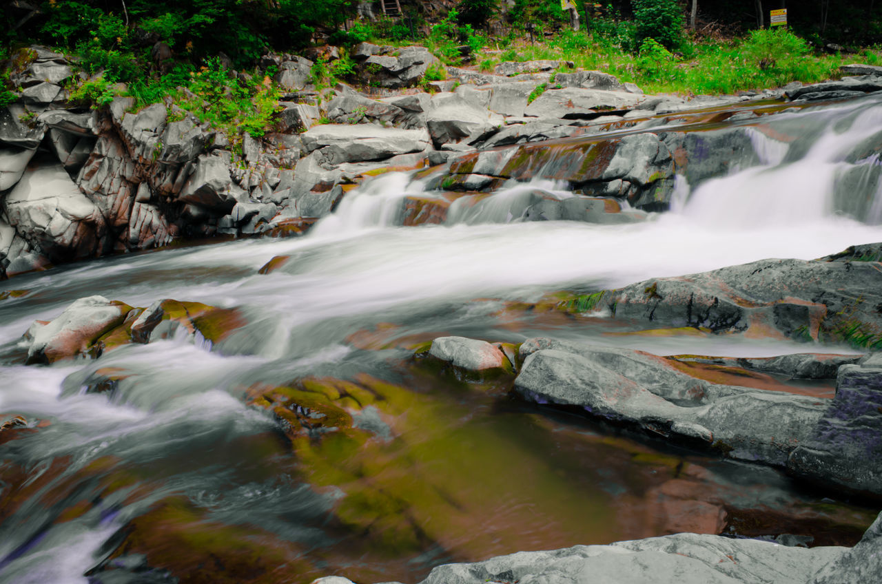 waterfall, motion, water, long exposure, flowing water, blurred motion, nature, beauty in nature, river, outdoors, scenics, no people, rapid, day, forest, tree, power in nature