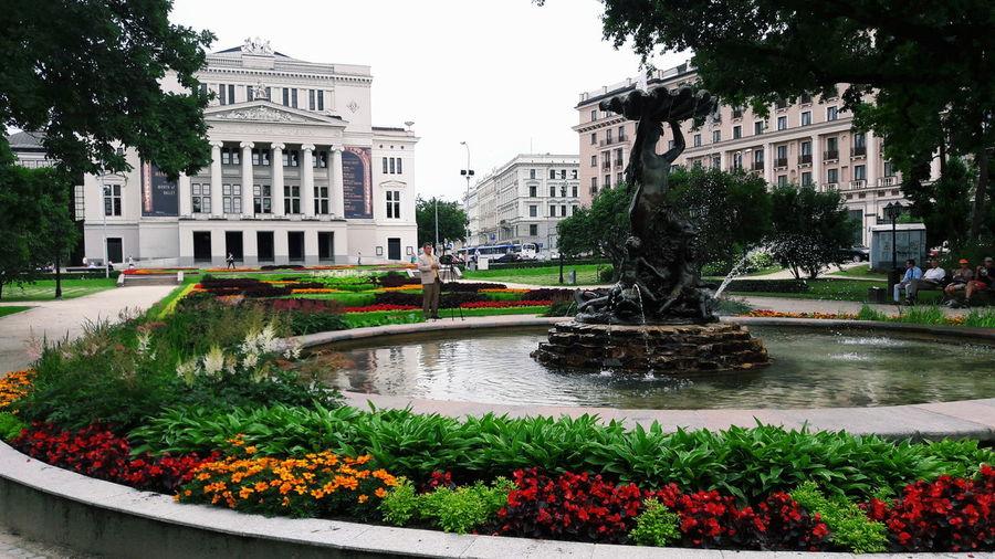 Opéra Ballet Garden Architecture Latvia Riga City