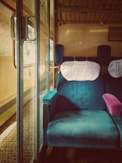 Traveling Train Traveling By Train Old School Retro Style Deutsche Bahn Seat