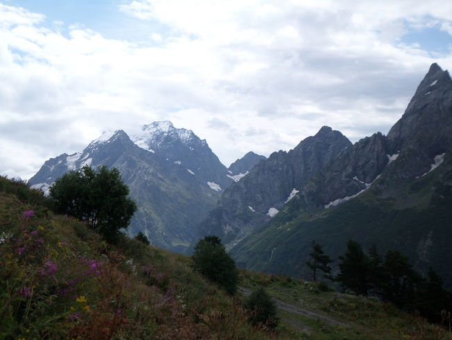 Beauty In Nature Landscape Mountain Mountain Range Nature Non-urban Scene Snowcapped Caucasian Mountains домбай КавказскийХребет