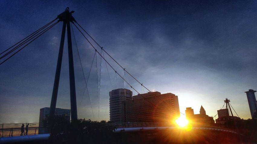 Sunset Silhouettes Urban Scenes Stunning Sunset Frankfurt Am Main