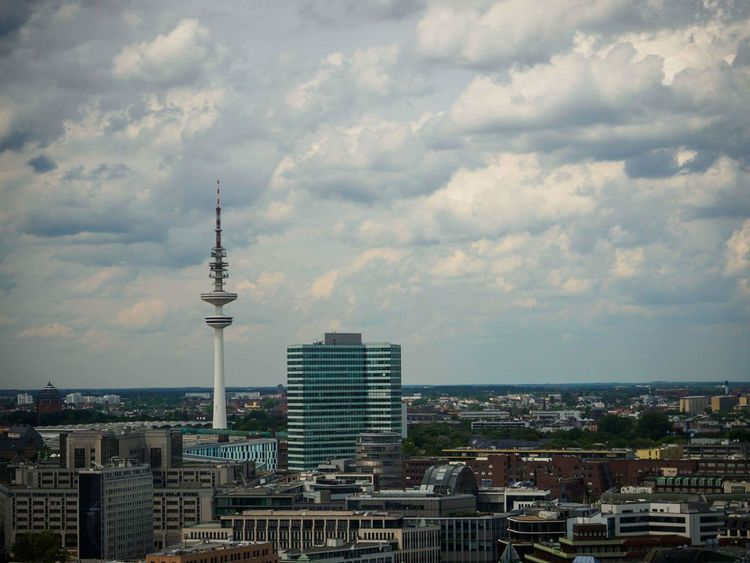 City Architecture Skyscraper Tower Tall - High Communication Modern Cityscape Urban Skyline Travel Destinations Building Exterior Built Structure Broadcasting Travel Business Finance And Industry City Life Downtown District Cloud - Sky Outdoors Antenna - Aerial Hamburgcity HAMBURG ... Moin Moin Hamburgmeineperle Hamburg EyeEm Selects