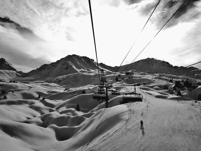 when you live in the clouds Mountains Mountain Range Mountain And Sky Blackandwhite Wintertime Seasons Winter Views Getoutandexplore Snowboarder Livelife Snowcapped Mountain Snow ❄ Photography Taking Photos EyeEm Best Shots EyeEm Nature Lover Fresh Outdoor Photography Cloud - Sky Sky Nature Mountain Landscape Day Outdoors Beauty In Nature Scenics Cable Adventure