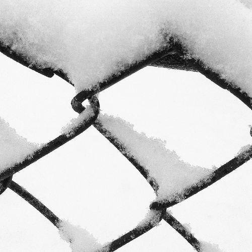 - Happy Spring?... 😑 - Snow Blackandwhite White Fence Gate EyeEm Best Shots Light Streetphotography Streetphoto_bw Sky