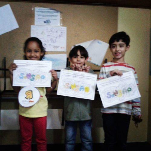 Domingo Kids - sala Profetas. Julia  Nickolas Isaque