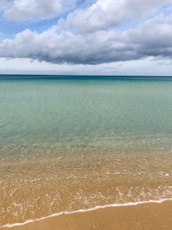 Sea Cloud - Sky Water Cloud - Sky Sky Beauty In Nature Scenics - Nature Land Horizon Tranquil Scene Beach Tranquility Horizon Over Water Nature Idyllic Day No People Sand Outdoors Non-urban Scene Turquoise Colored
