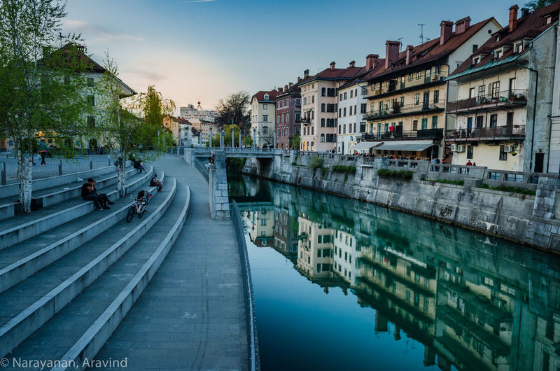 An evening stroll through the city of Ljubljana, Slovenia gave this opportunity for a beautiful soft lit sunset shot. The horizon captured the golden rays of the sinking sun which had to be extracted in lightroom. Overall, happy with the shot. Anpaphotography AravindNarayanan Architecture Canals City EuropeanCapital Ljubljana Ljubljana, Slovenia Ljubljanacity Nikkor18-55 VR II NikonD5100 Nikonphotography No People Sunset