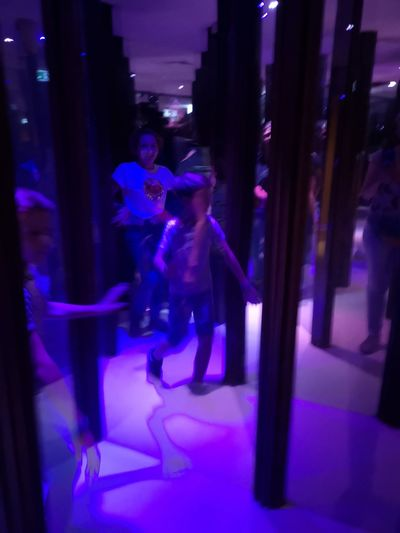 Realy no way out...? Eyeemadventure Amusement Parc Brühl Having Fun Together Mirror Cabinet Illuminated Full Length Togetherness Performance Well-dressed Young Women