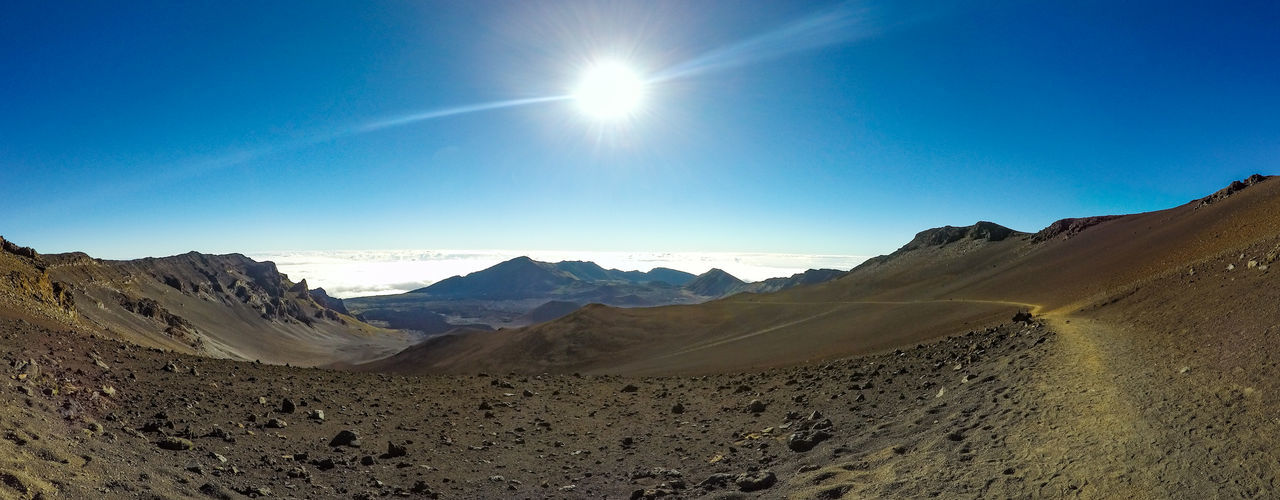 Panoramic View Of Sun Shining Over Haleakala National Park