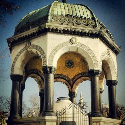Sultanahmetsquare Germanfountain Fountain Middleeast water asia architectute ottomanarchitectute art history almancesmesi istanbul turkey