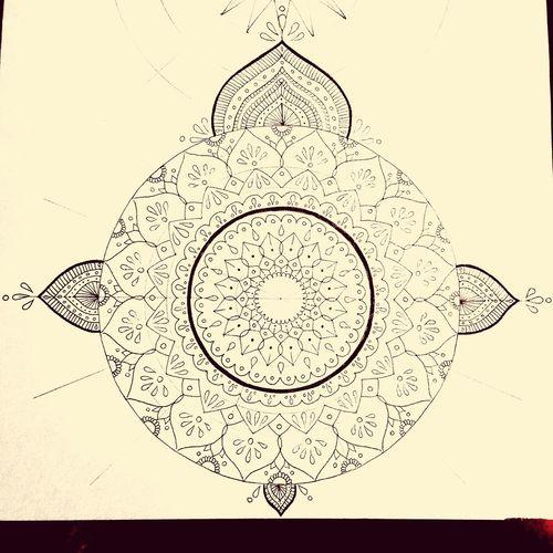 曼荼羅 Mandala Art Drawing YohkoAmaterraArt Create Cosmo Earth Pattern Handmade