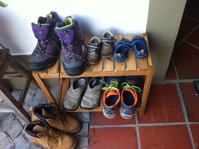 shoes Family Shoes High Angle View No People Shoe Shoe Rack Walking Boots