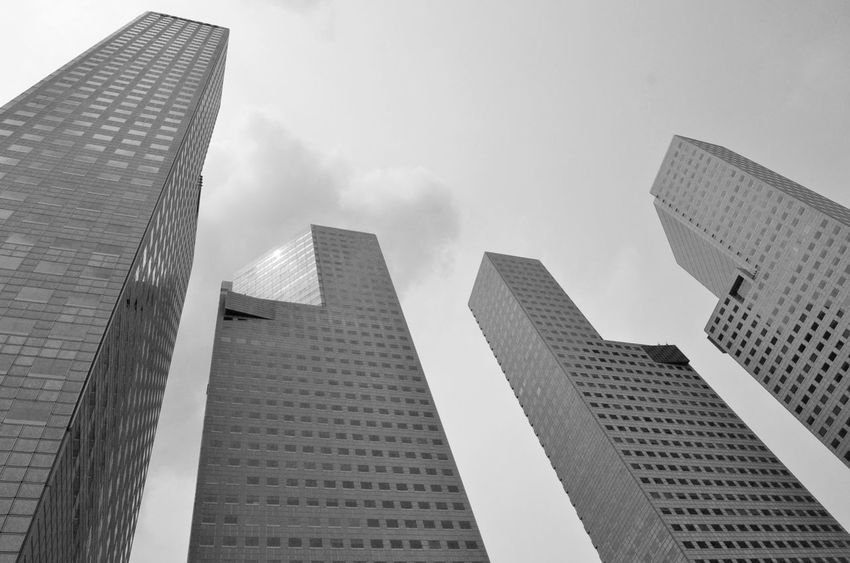 Battle Of The Cities City Skyline Geometric Shape Concrete Jungle Monochrome Photography #urbanana: The Urban Playground Summer In The City