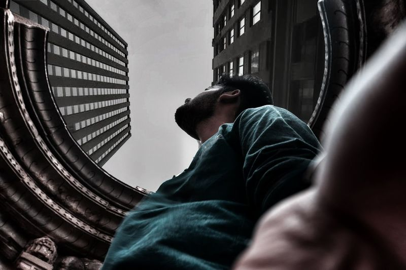 Perspective. Personal Perspective Urban Geometry Urbanphotography Contemporary Architecture New York City New York Moody Sky Moodygrams Urbanexploration Urban Escape Men City Challenge Hooded Shirt Sportsman My Best Photo