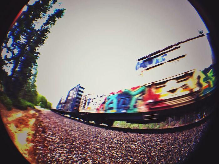Glitch Train Olloclip Graffiti mistake gone good