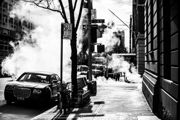 Smoke On Roadside