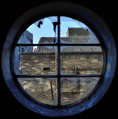 Derelict Nikon Abandoned Architecture Blue Building Exterior Built Structure Circle Cityscape Clear Sky Close-up Day Derelict Building Derp Indoors  No People Sky Urban Design Urbanphotography Urbex Window