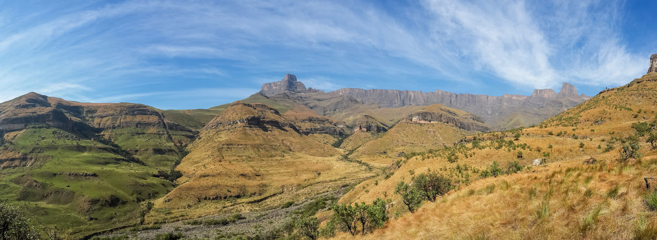Drakensberg, South Africa Beauty In Nature Day Drakensberg Landscape Mountain Mountain Range Nature No People Outdoors Scenics Sky Tranquil Scene Tranquility