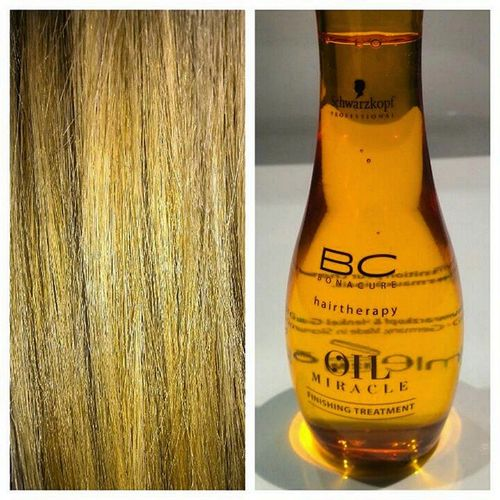 Lo mejor para cuidar y dar brillo al cabello grueso Schwarzkopf Bc Bonacure Hairtherapy oil miracle finishing treatment normalhair thickhair cheveux huile soon In my blog