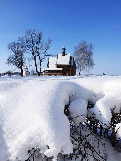 Wintertime Suzdal, Goldenring Church Winter Tree Cold Temperature Snow Sky Nature Architecture Frozen