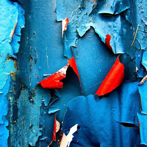 Love a bit of Peeling Paint mainly Blue with a hint of Red Textures And Surfaces EyeEm Bestsellers