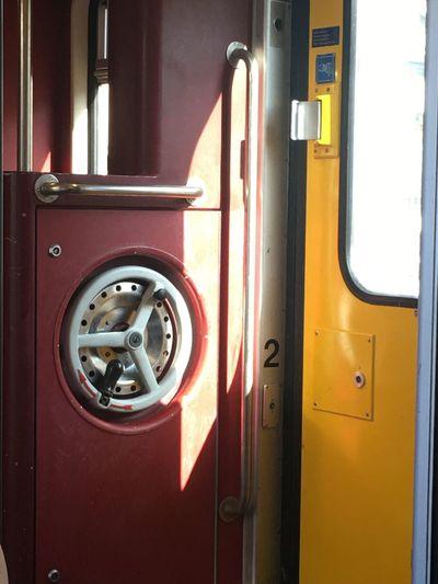 View of train door