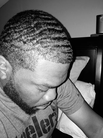 Just left the Barber Shop Fresh Haircut 360 Waves Brooklyn Bed-Stuy IPhoneography Self Portrait That's Me