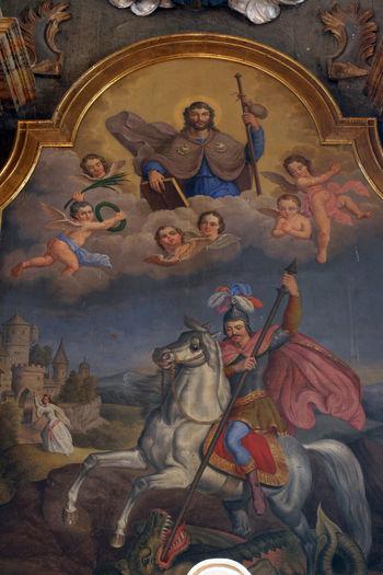 St. George and St. Jacob Altar Art Belief Christianity Church Croatia Faith George Holy Jacob Religion Religious  Saint Spiritual Spiritual Spirituality
