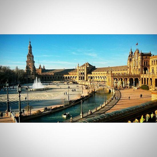 Holiday♡ Sunnydays SPAIN Plazadeespana Monuments Light And Shadow Blue Sky