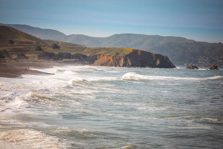 Pacifica beach and coastline in california