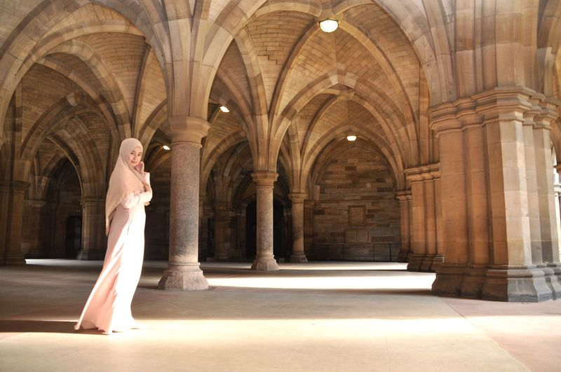 U of G Glasgow  Architecture Adult Arch Women One Person Young Adult Full Length Beauty Fashion Females Architectural Column Beautiful Woman