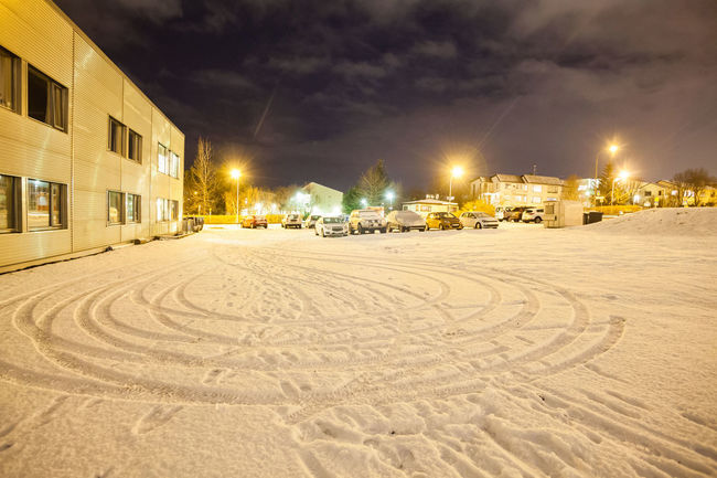 Reykjavik city hostel outside view of ice during winter Reykjavik Reykjavik Harbour Snow ❄ Architecture Building Exterior Built Structure Illuminated Nature Night No People Outdoors Reykjavik Skyline Reykjavikpride Reykjavikstreetart Sand Sky Snow Snowing Street Light