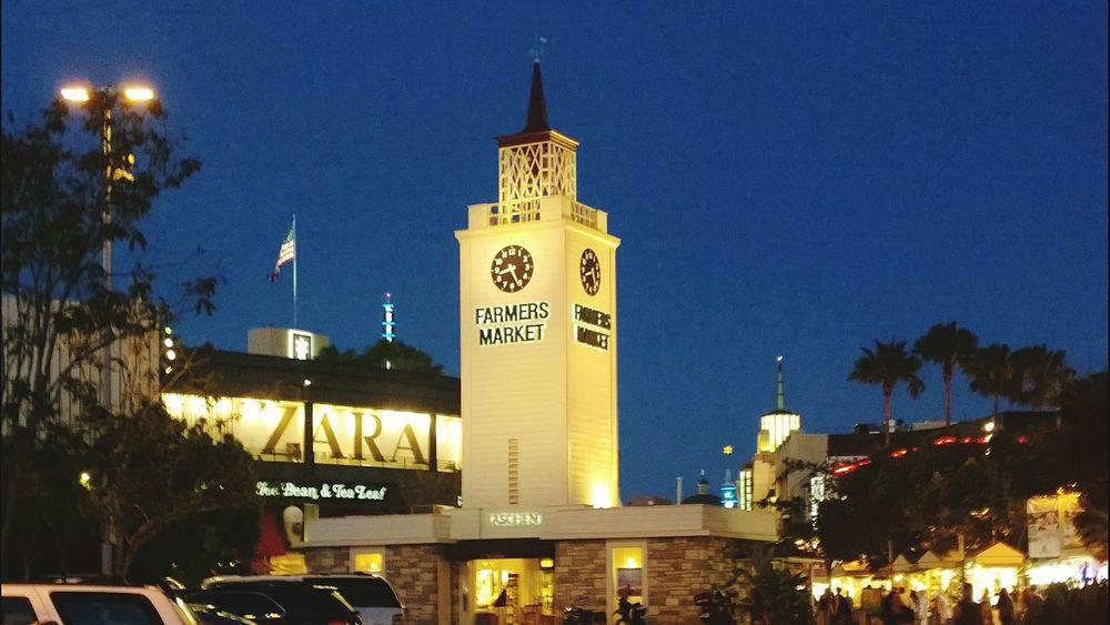 The Grove  Clock Farmers Market Night