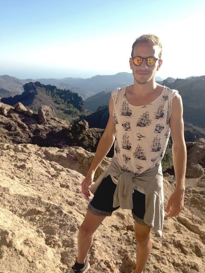 Canarias Walking Mountains View Escaping Gayboy Summer August 2015