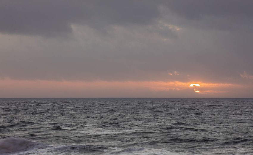 Freezing Cold Sunset_collection Clouds Cold Temperature Horizon Over Water No People Outdoors Scenics Sea