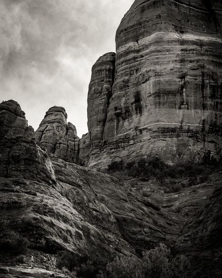 Low Angle View Of Cathedral Rock