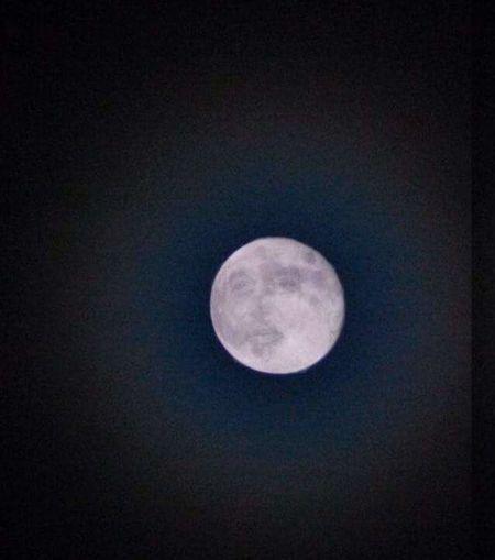 Pramukh swami seen in the moon. First Eyeem Photo