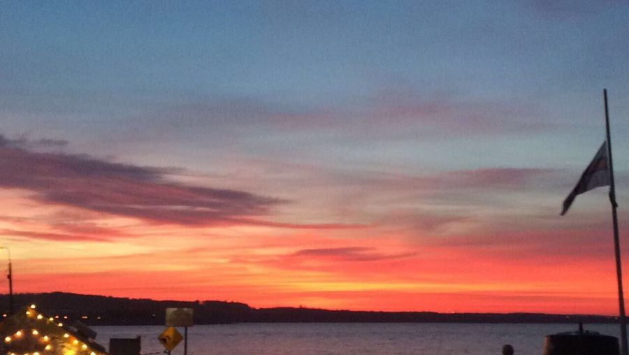 Beach Sunset Sunset Sky Cloud - Sky No People Nature Outdoors Water Sea And Sky Sea Pink Sky Orange Sky First Eyeem Photo