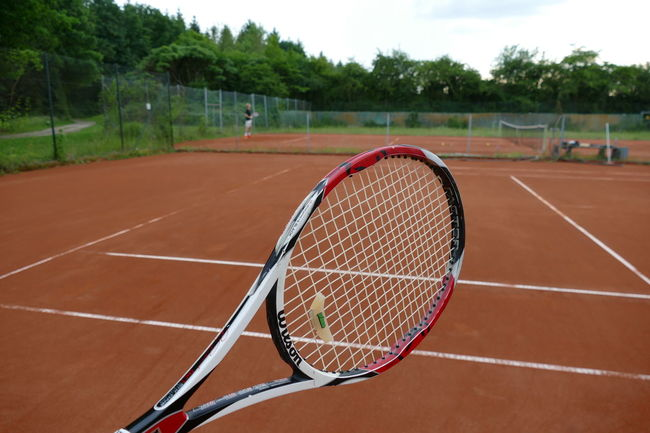 Clay Competition Competitive Sport Court Day Net - Sports Equipment No People Outdoors Racket Sport Sport Tennis Tennis Ball Tennis Net Tennis Racket