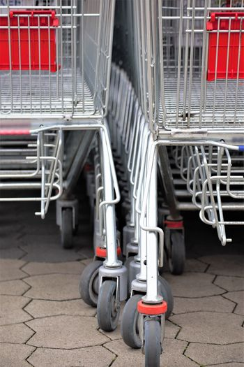 View of shopping cart in city