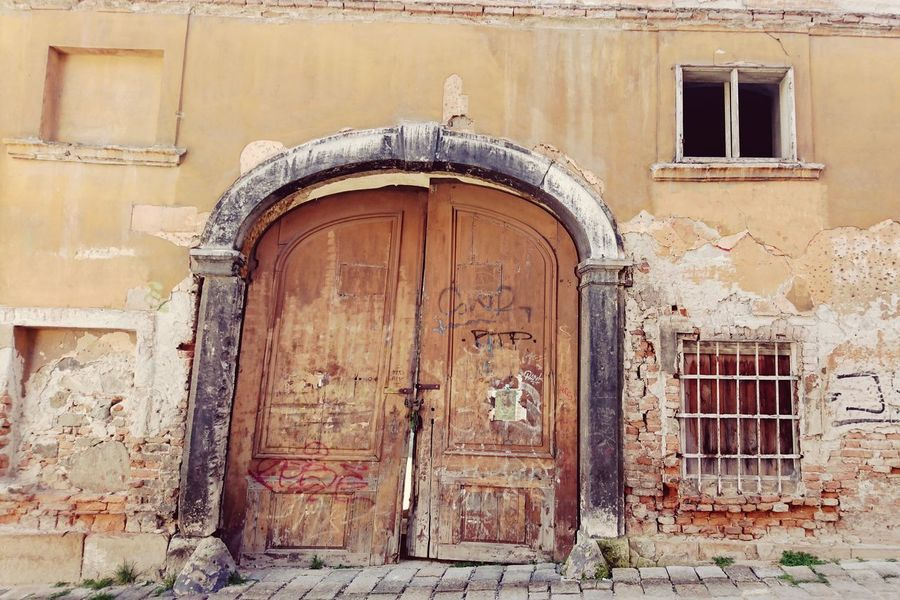 Building Exterior Architecture Built Structure Outdoors No People Day House Residential Building Full Frame Close-up Abandoned Places Old House Historic Old Buildings Old Town Bratislava, Slovakia Old Architecture Slovakia Doorway Gate Door Old Doors Old Door