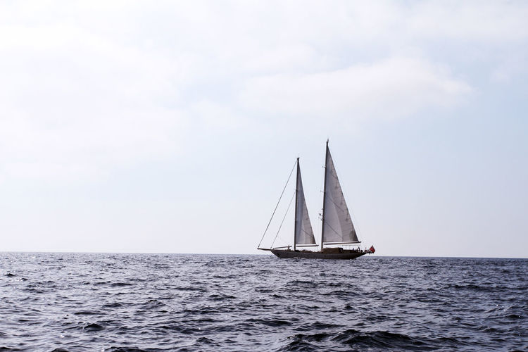 Beauty In Nature Cloud - Sky Day Horizon Over Water Nature Nautical Vessel No People Outdoors Sailboat Sailing Sailing Ship Scenics Sea Sky Tall Ship Tranquil Scene Water Yacht Yachting