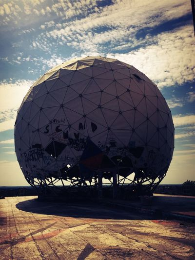 The Great Outdoors - 2017 EyeEm Awards Teufelsberg Berlin Teufelsberg Listening NSA Station Berlin NSA Cold War Radar Dome Built Structure Sky Astronomy Day Outdoors No People Architecture Building Exterior Berlin West Berlin American Sector Abandoned Places Abandoned Berlin Discover Berlin