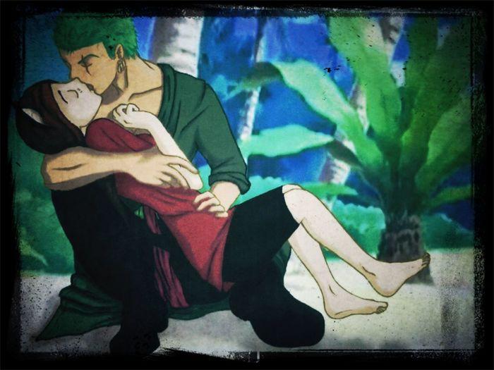 One Piece Lorenor Zorro Roselin Neko Beach