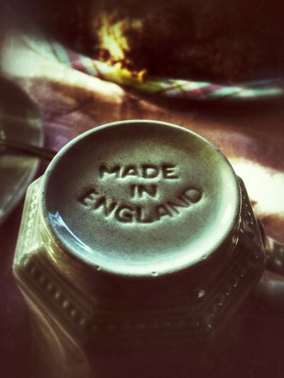 Made in England...perhaps I am, but which parts? Is it my knuckle, a toe nail, or the left ventricle of my heart. I know that I'm half Italian and a quarter Irish on the other side. But what fills up the rest of me...I don't quite know I honestly must confide. Perhaps I am Aboriginal, or a Tatar riding by. Could I be a Hessian, Algonquin, or Berber...now that would be a surprise. - I.M. Vecordious✨💀📝😉 Tadaa Community Poetry Getting Inspired Snapseed Drink Food And Drink No People Close-up Text Indoors  Refreshment Freshness Day Inscription Tea Cup Made In England